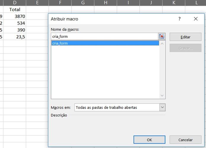 Selecione o módulo criar_form que você produziu no Visual Basic (Foto: Reprodução/Filipe Garrett)