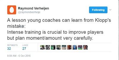 Raymond Verheijen tweet Jurgen Klopp (Foto: Reprodução/Twitter)