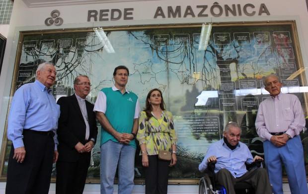 Painel da entrada da Rede Amazônica foi revitalizado  (Foto: Katiúscia Monteiro/ Rede Amazônica)