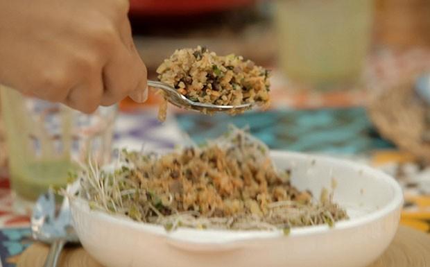 Bela Cozinha Vero cuscuz de couve-flor (Foto: Divulgao/GNT)