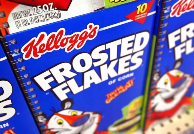 Cereais da Kellogg à venda em supermercado nos Estados Unidos (Foto: Tim Boyle/Getty Images)