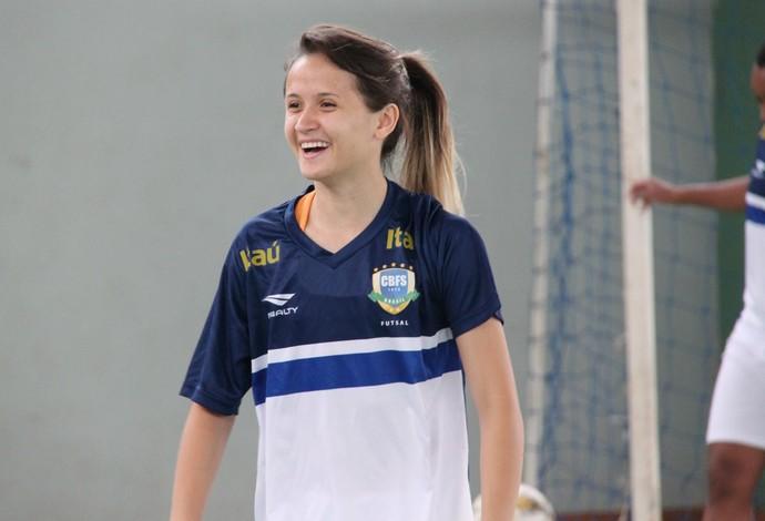 Amandinha seleção brasileira de futsal feminino (Foto: Naiara Gresta/CBFS)