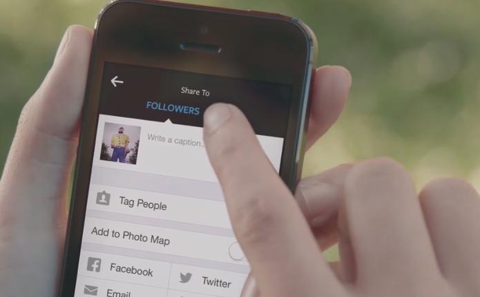 Como visualizar os álbuns de fotos do iOS ao postar no Instagram? (Foto: Reprodução/Instagram)