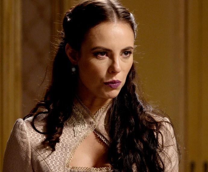 Melissa fica chocada com a resposta de Lívia! (Foto: TV Globo)