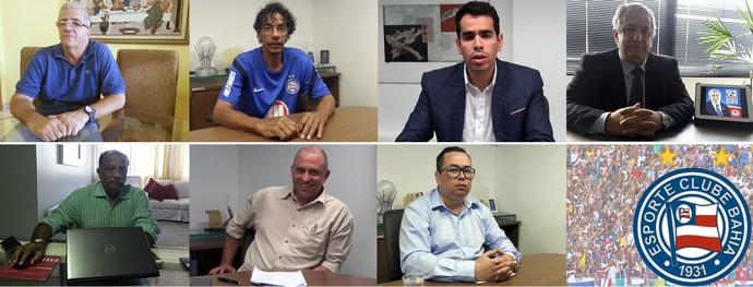 eleições bahia; candidatos (Foto: Arte/ GloboEsporte.com)