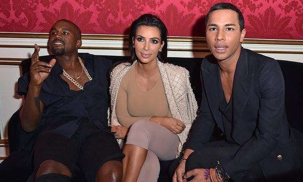 Kanye e Kim Kardashian com Olivier (Foto: Reprodução/ Instagram)