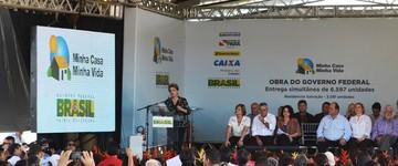 Dilma entrega obras do 'Minha Casa' em Santarém, PA (Weldon Luciano/G1)