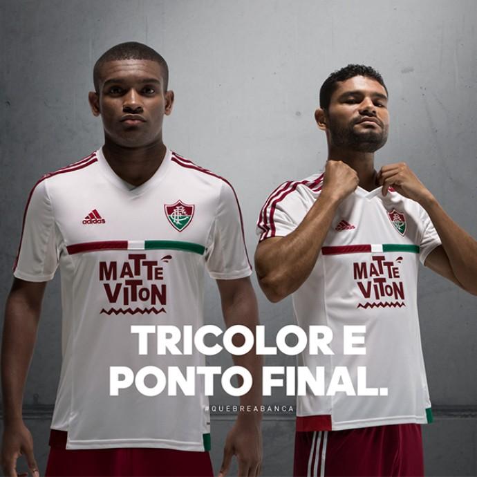 Fluminense divulga imagem do novo segundo uniforme (Foto: Reprodução / Facebook)