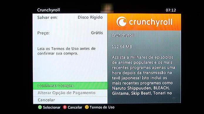Clique na opção Download para baixa-lo no Xbox 360 (Foto: Reprodução/Tais Carvalho)