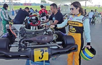 Piloto Bia Figueiredo fala sobre a Stock Car no Brasileiro de Kart na PB