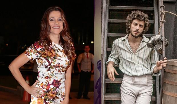 Ingrid Guimarães e Chay Suede  (Foto: /Rafael Cusato / Ego / Reprodução/Instagram e Globo)