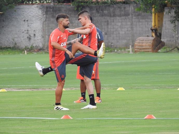Diego Treino Flamengo (Foto: Fred Gomes/GloboEsporte.com)