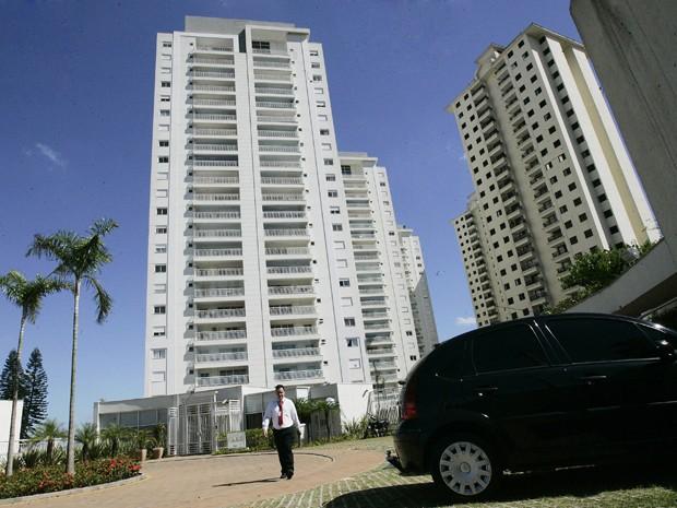 Fachada do empreendimento da construtora Cyrela,em São Paulo (Foto: FILIPE ARAÚJO/ESTADÃO CONTEÚDO/AE)