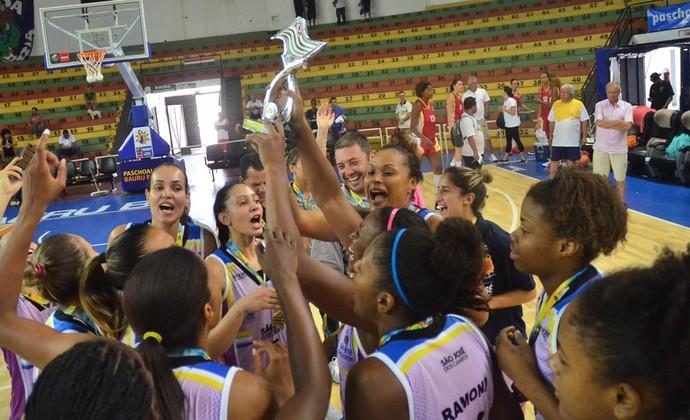 São José Basquete Feminino campeão dos Jogos Abertos do Interior 2014 (Foto: Tião Martins/PMSJC)