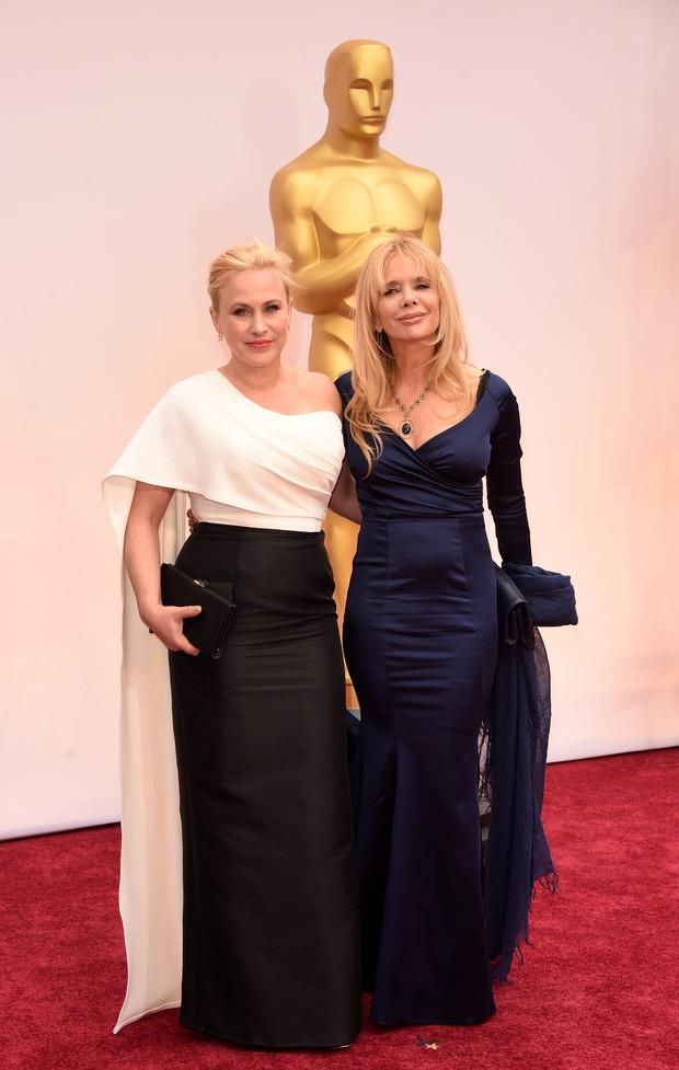 Patricia Arquette e a irmã, Rosanna (Foto: AFP)