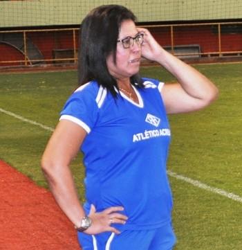 Neila Rosas, técnica do Atlético-AC feminino (Foto: Duaine Rodrigues)