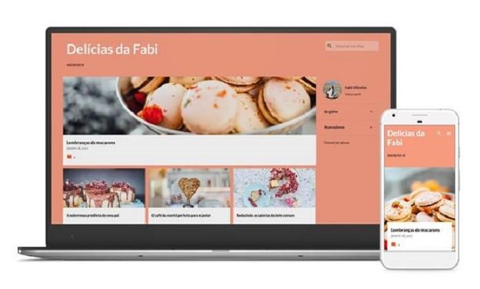 Os novos temas são responsivos, ou seja, se adaptam à diferentes tamanhos de tela (Foto: Divulgação/Blogger)