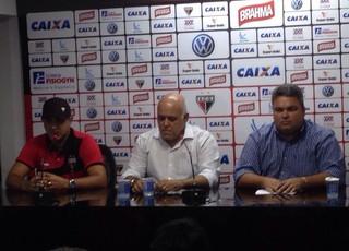 Marcelo Chamusca, técnico do Atlético-GO (Foto: Victor Hugo de Araújo/TV Anhanguera)