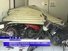 Criminosos usam carro para arrombar loja de motos em São José, SP