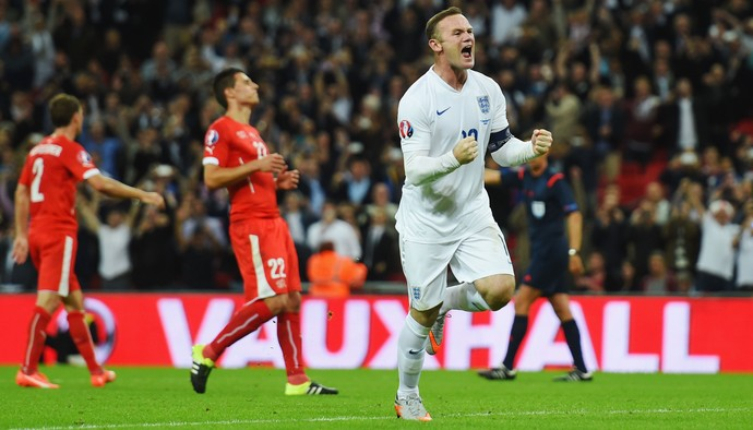 Wayne Rooney, Inglaterra x Suíça Eliminatórias Euro Gol 50 (Foto: Getty Images)