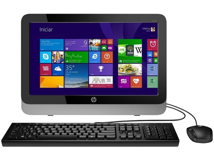 O HP All in One 18-5200br vem equipado com Windows 8.1 (Foto: Divulgação/HP)