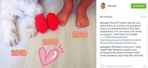 Bárbara Borges anuncia gravidez em rede social (Foto: Instagram)