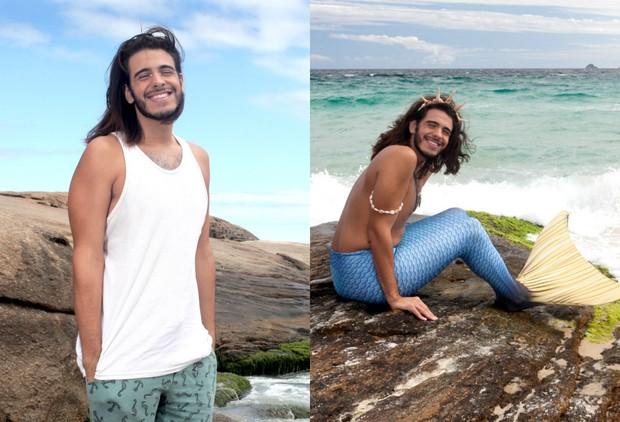 Davi Moreira antes e depois da transformação em Davi Sereio (Foto: Anderson Barros / EGO)