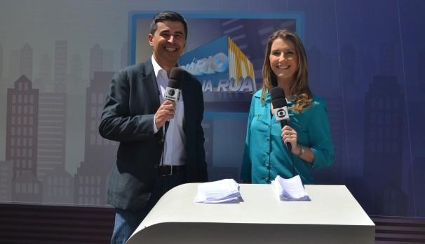 Dino Rodrigues e Lenina Velloso  (Foto: Reprodução / TV Diário)