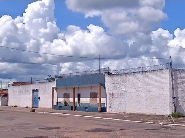 Cadeia Pública de Barra do Bugres, em Mato Grosso. (Foto: Reprodução/TVCA)