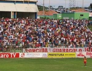Torcida do Guarani na Arena do Calçado (Foto: Cláudio Ramalhão)