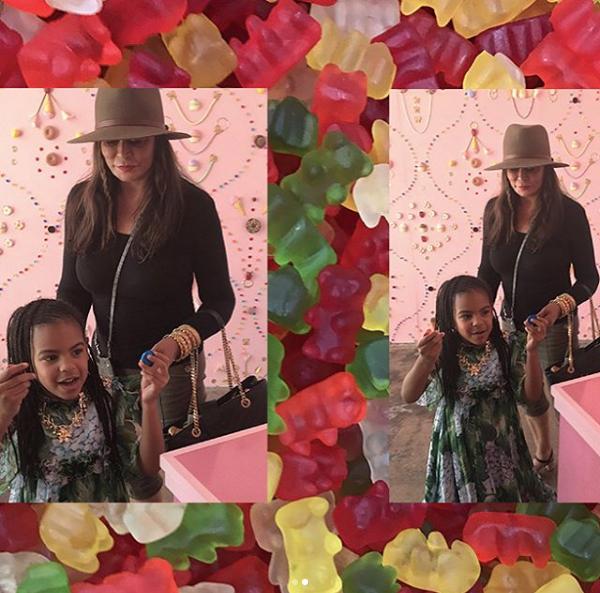 Tina Knowles com a neta, Blue Ivy (Foto: Reprodução/Instagram)