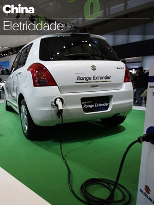 selo china carro elétrico (Foto: Arte G1)