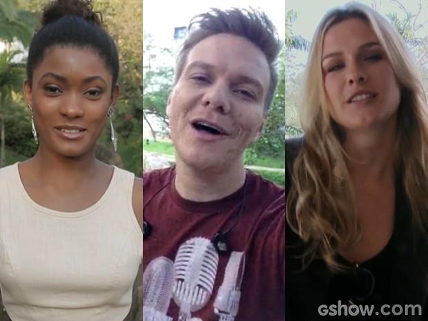 Erika, Teló e Fiorella já mandaram suas dancinhas. E você, não vai mandar a sua? (Foto: Geração Brasil/TV Globo)