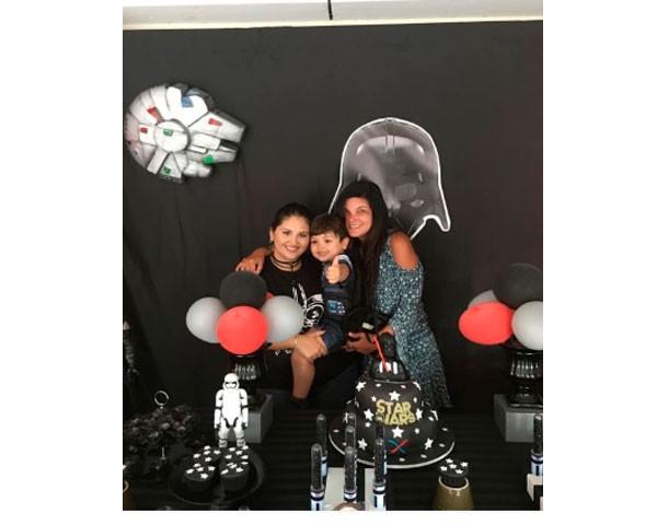 Rafaella, Miguel e Cristiana (Foto: Instagram)