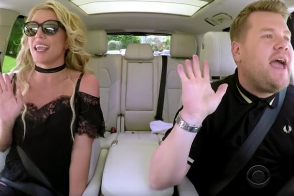 Britney Spears no Carpool Karaoke (Foto: Reprodução)