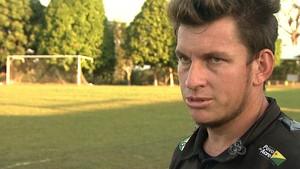 Douglas Magalhães, goleiro do Atlético-AC (Foto: Reprodução/TV Acre)