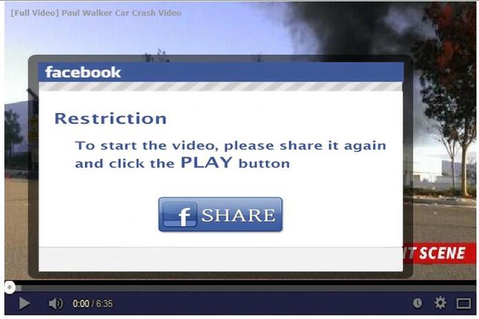 Suposto vídeo da morte de Paul Walker se espalha na web; entenda o golpe (Foto: Reprodução/Hot For Security)