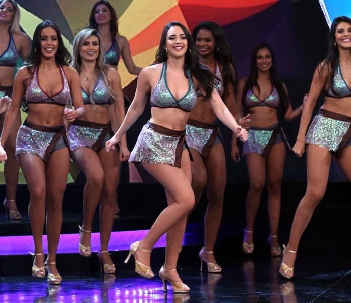 Gabrielle Cardoso brilha todo domingo no palco do 'Faustão' (Foto: Carol Caminha / Gshow)