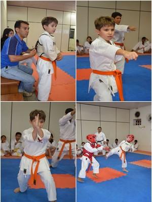 karateca de Rondônia, medalha de bronze em Mundial, treina para o Brasileiro (Foto: Eliete Marques/GLOBOESPORTE.COM)