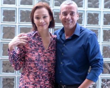 Alexandre Borges e Julia Lemmertz desmentem separação (Encontro com Fátima Bernardes/TV Globo)
