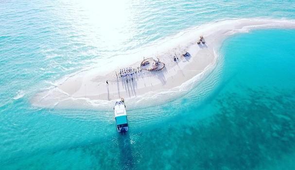 Visão aérea do casório de Isabeli Fontana (Foto: Reprodução/ Instagram)