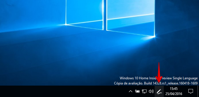 Clique sobre o botão indicado para ativar o Windows Ink (Foto: Reprodução/Helito Bijora)