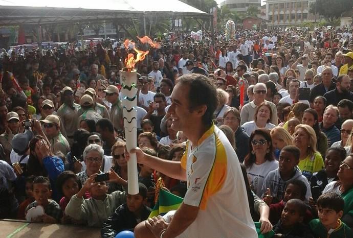 Marcelo Barreto, SporTV, tour da tocha, Minas Gerais, Bicas (Foto: Luciana Morais)