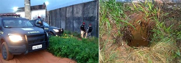 Após disparos feitos por um dos guariteiros, policiais da Força Nacional descobriram túnel e evitaram uma fuga em massa (Foto: Força Nacional)