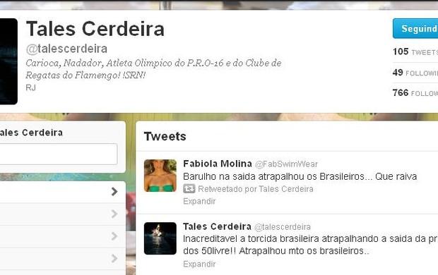 Tales Cerdeira defende Cielo no Twitter (Foto: Reprodução Twitter)
