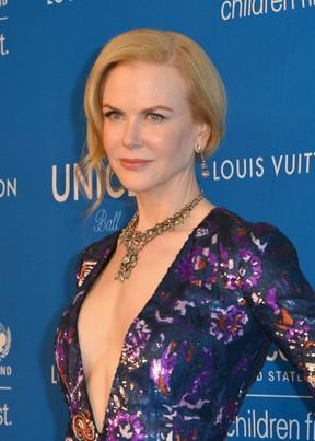 Nicole Kidman em evento em Los Angeles, nos Estados Unidos (Foto: Joshua Blanchard/ Getty Images/ AFP)