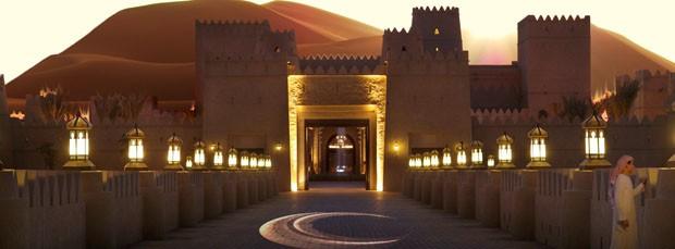 Obra faraônica no deserto  (Foto: Divulgação)