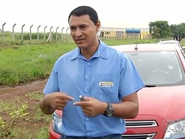 Humberto de Oliveira diz que nunca imaginou que gravaria acidente em que homem foi arremessado, em Goiás (Foto: Reprodução/TV Anhanguera)