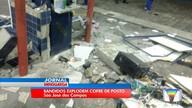 Quatro bandidos tentaram explodir cofre de posto de combustível em São José