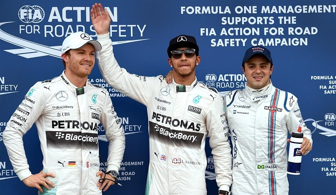Lewis Hamilton Mercedes pole GP da Austrália (Foto: AFP)